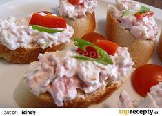 Hradecká pomazánka recept - TopRecepty.cz Baked Potato, Ham, Toast, Appetizers, Potatoes, Baking, Ethnic Recipes, Food, Kitchens