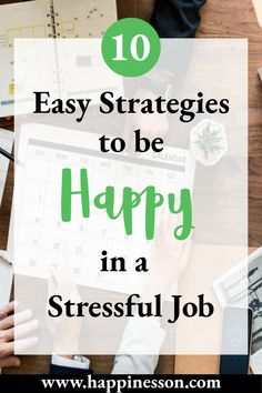 For most people, their job is the leading cause of stress. Find out how to be happy even if you have a stressful job by using these 10 easy strategies. Career Advice, Career Path, Career Opportunities, Work Goals, Life Goals, Happy At Work, Job Help, Happiness Is A Choice, Stress Causes