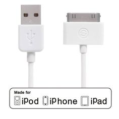 OPSO® Apple MFi Certified Linker Sync and Charge Data Cable 30 Pin Dock Connector to USB Cable for iPhone 4S 4 3GS, iPad 2 3, iPod touch 2 3 4, iPod nano 6th and Previous Apple Models (4 Feet / 1.2 m) opso http://www.amazon.co.uk/dp/B00FOG1XPG/ref=cm_sw_r_pi_dp_It0wub08CT0GG