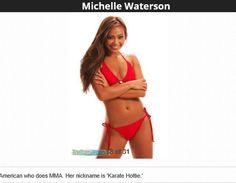 """Michelle Waterson aka """"karate hottie"""". American mma fighter"""