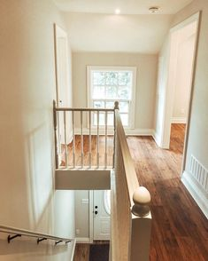 I dunno about you but I think this is pretty crazy! Pictured here is the hallway in the upper unit of our investment… Stairs, Loft, Bed, Pretty, Instagram Posts, Furniture, Home Decor, Stairway, Decoration Home