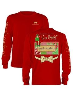 Simply Southern Christmas To Be Preppy Shirt - Red from Chocolate Shoe Boutique