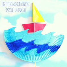 IArty Crafty Kids   Craft   Interactive Paper Plate Sailboat Craft   A fun and engaging Summer Craft for Kids. Sail the paper plate seas with their twizzle boats.