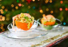 Naranjas con marisco