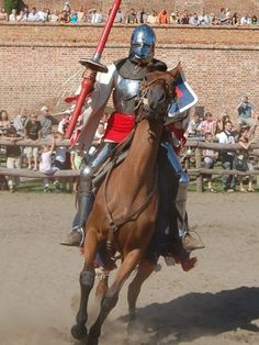 Knnights of the International Jousting League come annually to Gniew Castle, Poland, in August for the King John III Sobieski's Tournament.