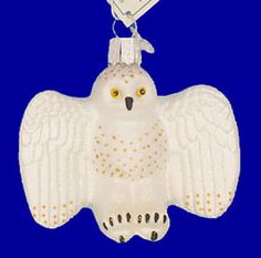 Snowy Owl Glass Ornament - Old World Christmas