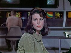 Majel Barrett in her original role from the Star Trek TOS pilot The Cage