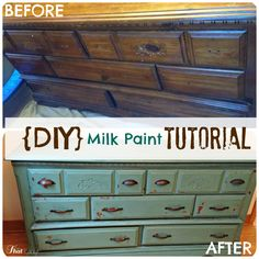 Are you looking for milk paint furniture - see how you can make your own antiqued furniture for 1/4 of the cost!