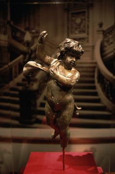 Recovered Cherub Figure from the Titanic: This cherub was recovered from the wreckage. (Photo Credit: Todd Gipstein; RMS Titanic, Inc./CORBIS)