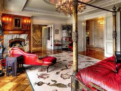 New York Victorian style interior apartment on East 69th Street
