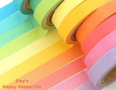 10 bright neon washi tapes