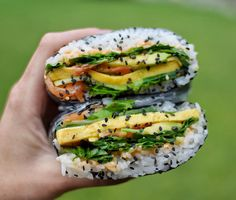 """Onigirazu (sushi sandwich) is a perfect on-the-go snack which can be filled with a variety of ingredients, making them as healthy or as sinful as you'd like them to be! I like filling them with my favourite sushi fillings that I can easily pick up from my local asian supermarket, but they can be also … Continue reading """"Onigirazu with Salmon (Low FODMAP, Gluten Free) """""""