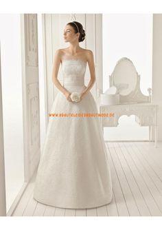2013 Liebste romantische Brautkleider aus Satin Köln kaufen mit Applikation und Schleppe