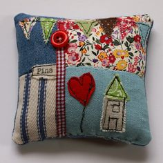 pincushion shabby chic or make a cute love quilt pillow for your loved one also a cool handmade gift for mothers day