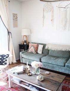 Top Home Design 98 Beautiful Bohemian Living Room Decor Ideas 18 My Living Room, Home And Living, Living Room Decor, Living Spaces, Cozy Living, Decor Room, Simple Living, Modern Living, Dining Room
