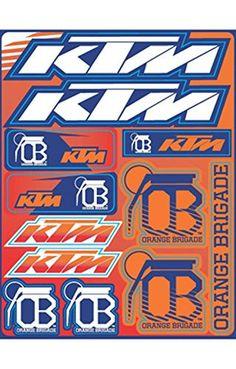 d7b82a776 KTM Orange Brigade Sticker Sheet