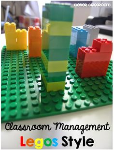 Classroom Management Legos Style! Interesting and easy idea...Legos would be more fun than table points written on the board with Expo marker! Clever Classroom via Primary Chalkboard