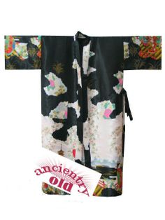 Charming Chinese Silk Women's Kimono Robe Gown Black