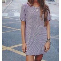 Brandy Melville shirt dress Can we worn as a tunic or dress. Great condition. Maroon and white stripe. Brandy Melville Dresses