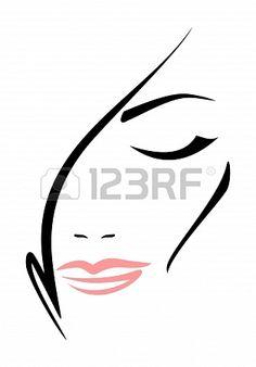 Красивая женщина лицо с закрытыми глазами на белом фоне 19338414