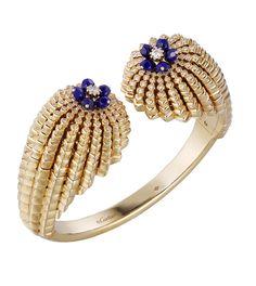 Bracelet Cactus de Cartier en or jaune, lapis lazuli