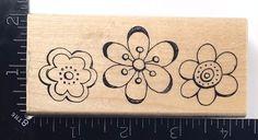 BEST BUDS N192 Stampendous Rubber Stamp Flower Blossoms Doodle Art #729 #StampsHappen