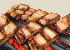 Food N, Food And Drink, Cute Food, Yummy Food, Food Art Painting, How To Cook Meatloaf, Food Cartoon, Food Wallpaper, Food Icons