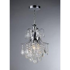 Warehouse of Tiffany Susan 3-Light Crystal Chrome Chandelier-RL3629 - The Home Depot $113 - BATH