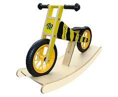 Laufrad Kiddy mit Wippe, gelb/schwarz, B 99 cm