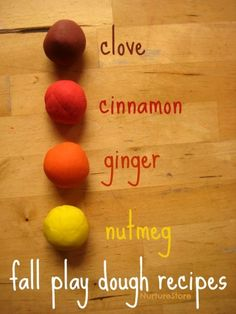 Make Fall Scented Play Dough
