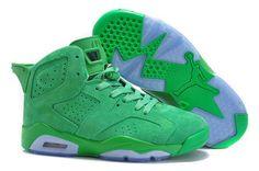 best website d63c6 bb80b Air Jordan 6 Suede Green Women AAA Nike Pas Cher, Nike Air Jordan 6,
