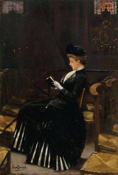 1889.........LA FEMME EN PRIÈRE........PARTAGE DE LE PEINTRE JEAN BERAUD...........SUR FACEBOOK......