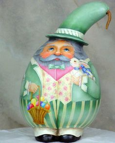 etsy_easter santa gourd with bunny