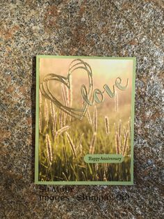 Happy Anniversary, Handmade Cards, Serenity, Stampin Up, Scenery, Greeting Cards, Image, Art, Happy Brithday