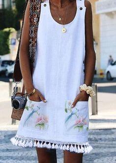 Cotton Sleeveless Casual Dresses – elledro Source by Casual Dresses, Short Dresses, Casual Outfits, Fashion Dresses, Summer Dresses, Sleeveless Dresses, Vacation Dresses, Maxi Dresses, Unique Fashion