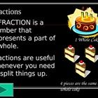 This is a powerpoint presentation that can be converted into a Smart Board flipchart.  I contains five different lessons:  What is a Fraction?, Fra...