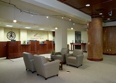 Tradition Bank Lobby and Reception Area - Interior Design Idea in