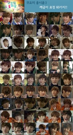 Set of 60 cute facial expressions by Yoon Si Yoon on 'Flower Boy Next Door' capture attention