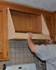how to paint a wooden stove hood to look like copper