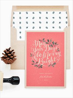 Rachel Marvin Creative specializes in wedding stationery and is sharing her amazing holiday designs with us! #wchappyhour #weddingchicks