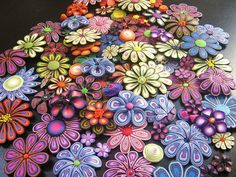 Beautiful polymer clay flowers! Am I Flowered Out Yet?? by DebbieCrothers, via Flickr