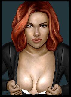 Black Widow revealing by HeroforPain