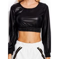 Smock-Value-Metallic-Cropped-Top MATTEBLACK SHINYROYAL GOLD SILVER... ($31) ❤ liked on Polyvore featuring tops, shirts, cut-out crop tops, gold top, metallic crop top, gold crop top and gold shirt
