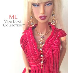 Fashion Doll Jewelry for Fashion Royalty dolls, Barbie - Mini Luxe Collection