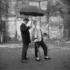 16 year old Teddy Girl, Eileen from Bethnal Green, with a Teddy Boy on an East End bombsite, January 1955. Teddy Girl, Teddy Boys, What Is British, British Style, Zoot Suits, Ken Russell, Youth Subcultures, Bethnal Green, Hippie Man