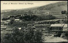 MERÅKER i Nord-Trøndelag fylke Nærbilde Meraker Sliberi og Omegn med ind.anlegget ca 1900