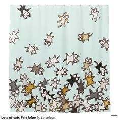 Lots of cats Pale blue Shower Curtain  http://www.zazzle.com/lots_of_cats_pale_blue_shower_curtain-256122796501862698?rf=238588924226571373