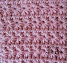Le point granite tuto crochet gratuit en francais pour - Point tricot facile joli ...
