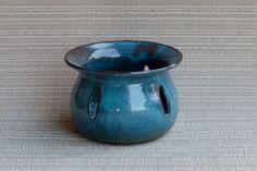 handmade, handmade pottery, pottery votive, pottery candle holder, turquoise pottery votive holder, handmade votive holder by RjsPots on Etsy https://www.etsy.com/listing/470662166/handmade-handmade-pottery-pottery-votive