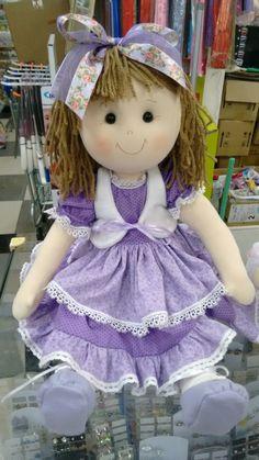 Molde de boneca em tecido de algodão Doll Toys, Baby Dolls, Pink Doll, Raggedy Ann, Soft Dolls, Doll Crafts, Fabric Dolls, Beautiful Dolls, Doll Clothes